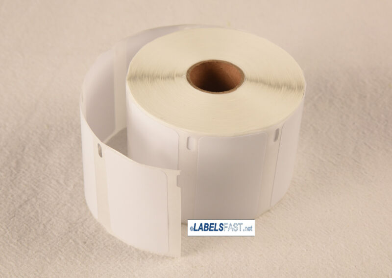 1 Roll Dymo Compatible 30334 2 1/4in X 1 1/4in White Multipurpose Blank Labels