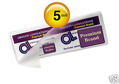 2x6 Bookmark Hot Laminating Pouches 5 Mil 2-14 X 6-14 100 Clear