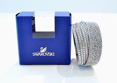 Swarovski Crystal Slake Grey Duo Bracelet 5153246 Authentic Brand New In Box