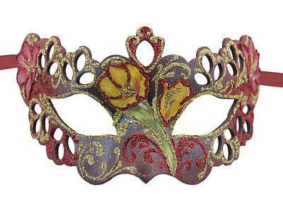 Mask Venice Colombine Tutti fruiti red paper mash 1772
