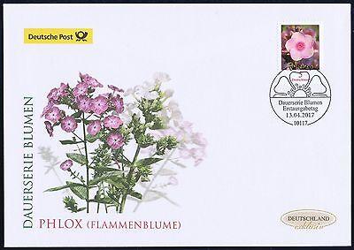 BRD 2017: Flammenblume Phlox! Post-FDC der Nr. 3296 mit Berliner Stempel! 1801