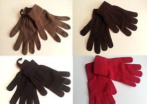 paire de gants laine uni homme femme ado noir rouge marron chocolat kaki mitaine. Black Bedroom Furniture Sets. Home Design Ideas