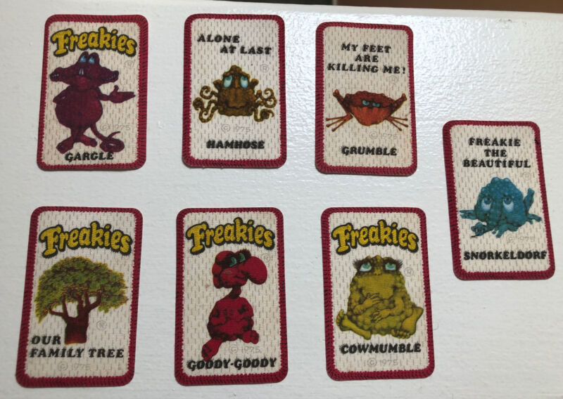 70's 1975 Freakies Cereal Patch Lot (7) Free Shipping