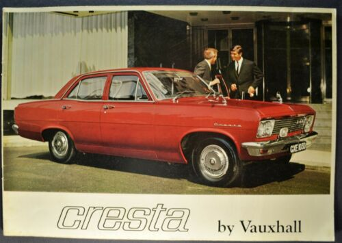 1966 Vauxhall Cresta Catalog Sales Brochure deLuxe Sedan Excellent Original 67