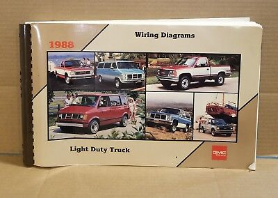 GMC LIGHT DUTY TRUCK 1988 WIRING DIAGRAMS *COLLECTIBLES