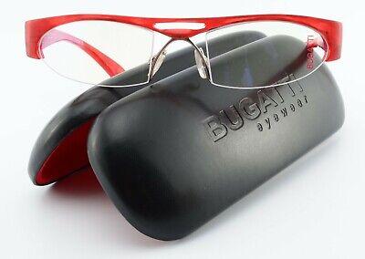 BUGATTI Brille 225-066 Odotype Luxury Half Rim Eye Frame 54[]22 Hand Made France