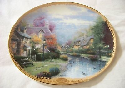 """Collector's Plate """" Lamplight Brooke"""" By Thomas Kinkade Limited Edition"""