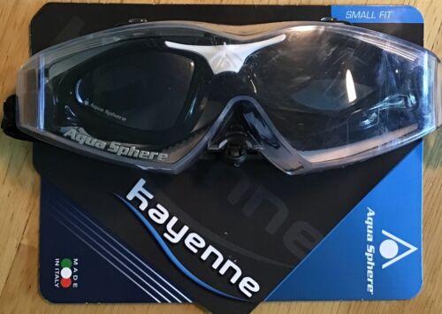 Aqua Sphere Kayenne Goggle Smoke Lens - Black/White - Small Fit