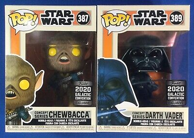 Funko Pop Star Wars Darth Vader & Chewbacca Concept Series Galactic Convention