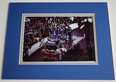 John Greig Signed Autograph 10x8 photo mount display Rangers Football PROOF COA
