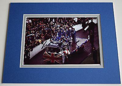 John Greig Signed Autograph 10x8 photo mount display Rangers Football PROOF COA