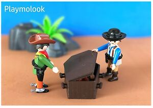 ATAUD-OESTE-WESTERN-COFFIN-CERCUEIL-CUSTOM-PLAYMOBIL-FIGURAS-NO-INCLUIDAS