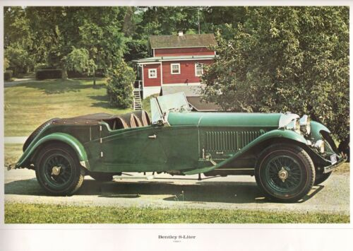 "Bentley 8-Liter British Convertible Automobile (1931) Large Poster 13"" x 18"""