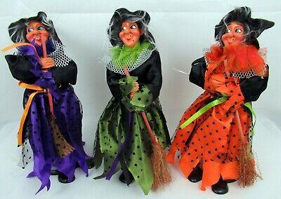 Hexe Halloween Herbstdekoration Lila Orange Grün mit verschließbarem Behälter