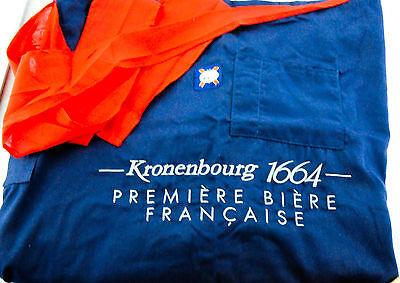 Kronenbourg 1664, Bier, Servierschürze, Bistroschürze, zweifarbig, sehr edel