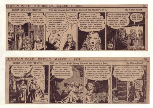 Terry and the Pirates by Milton Caniff 27 daily comic strips Complete March 1938