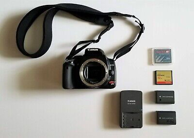 Canon EOS Rebel XTi DS126151 DSLR Camera Body Only - Works Well!