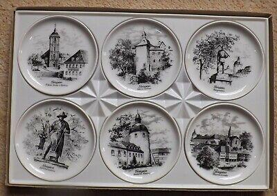 "Kaiser Porzellan - Set Of 6 Boxed Porcelain  Dishes With Scenes Of  "" Siegen """