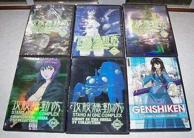GHOST IN THE SHELL Stand Alone Complex TV Collection 1-5 + Genshiken Vol. 2 DVD