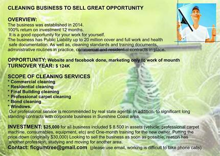 CLEANING BUSINESS TO SELL GREAT OPPORTUNITY