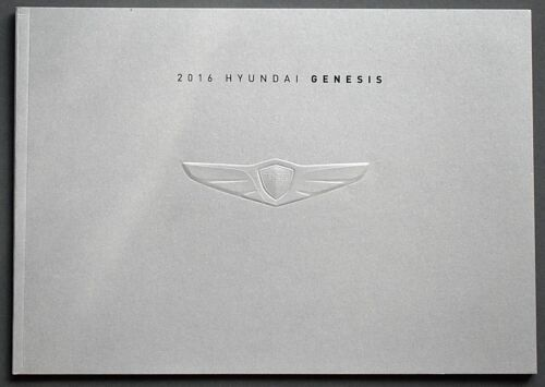 "ORIGINAL 2016 HYUNDAI GENESIS SALES BROCHURE ~ 18 PAGES ~11.5"" X 8.25"" ~ 16HYGEN"