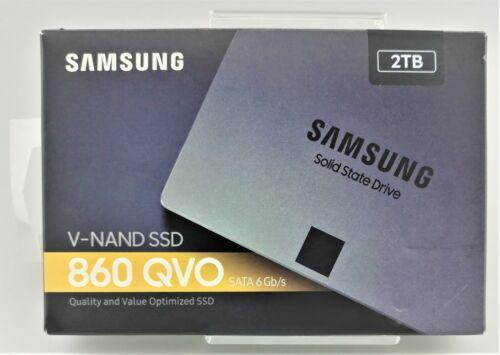 Samsung 860 QVO 2TB V-NAND SSD SATA III MZ-76Q2T0B/AM In Box Good Shape