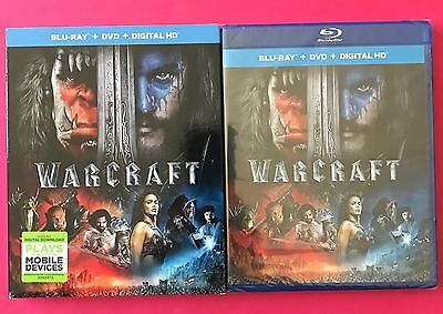 Warcraft Blu Ray Dvd Digital Hd With Slipcover Brand New