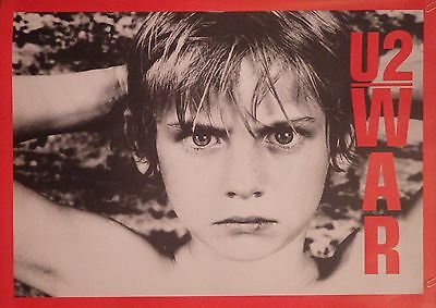 Music Poster U2 War Original 32X23  Full Size Nos Vintage Uk Import Cover Bono