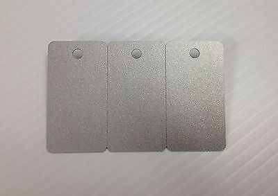 3-up Breakaway Key Tags Blank PVC Silver Cards CR80 30Mil Pack of 10 = 30 tags