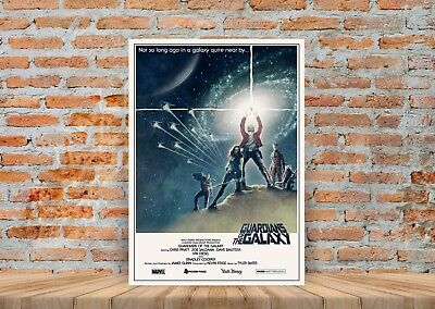 Guardians Of The Galaxy Star Wars (Guardians Of The Galaxy Star Wars Style Poster or Canvas Art Print - A3 A4 Sizes)