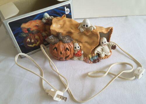 "Halloween Trick or Treat Night Light Sculpture 6""x 4""-Treat Bag-Ghosts-Pumpkin"