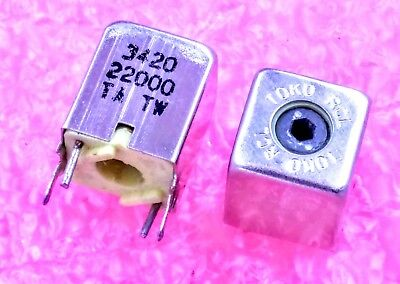 Toko 3420 22000 Shielded Variable Inductor. Lot Of 3 10 Or 25