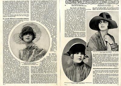 20er Jahre Mode Neue Herbst u.Winterhüte aus Samt & Filz von 1925