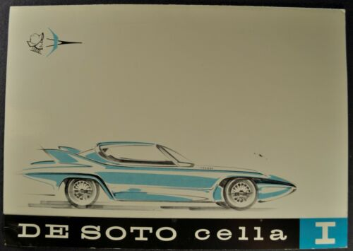 1959 DeSoto Cella I Concept Car Brochure Folder Excellent Original 59