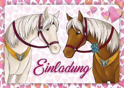ten zum Kindergeburtstag für Mädchen 4 6 8 10 12 15 20 25 St (Pferd Geburtstag)