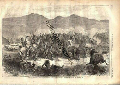 1867 Harpers Weekly March 23 - Indian battle and massacre in Dacotah Territory