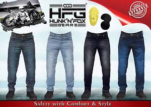Motorbike Regular Jeans with Protective Lining. Hunk'n'Fox Gears. Werribee Wyndham Area Preview