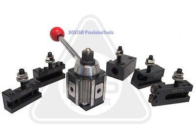 Axa 250-100 Piston Type Tool Post Tool Holder Set For Lathe 6 - 12 6pc