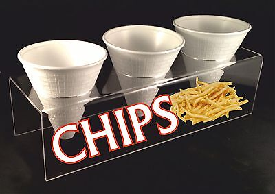 CHIP CONE HOLDER DISPLAY STAND CARRIER 3MM HIGH QUALITY ACRYLIC (CC004)