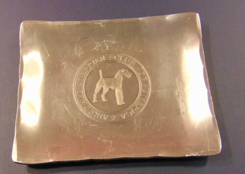 Vintage Airedale Terrier Club of America Tray, Dog
