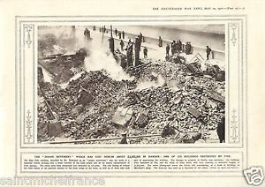 """Buldings Destroyed by Fire Dublin Ireland / Sinn Fein War WWI 14 18 PLANCHE 1916 - France - PORT GRATUIT A PARTIR DE 4 OBJETS BUY 4 ITEMS AND WORLDWIDE SHIPPING IS FREE EXCEPT USA, CANADA, AMERICA ONLY TRACKING MAIL PLANCHE 1916 RECTO-VERSO ETAT VOIR PHOTO FORMAT 28 CM X 20 CM SIZE : 11.02"""" X 7.87 inch G.108.92 - France"""
