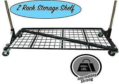 Only Hangers Heavy Duty Storage Base Shelf For Z Racks - Black