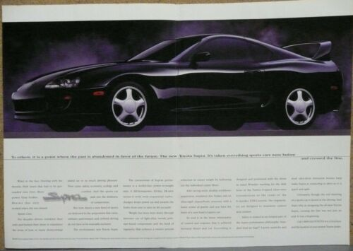 1993 Toyota Supra Print Ad (Black)