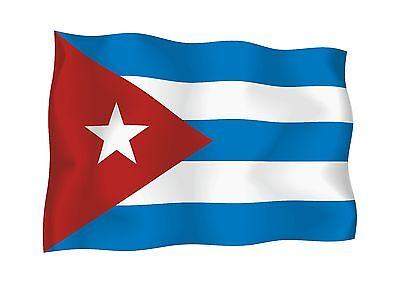 Waving Flag Sticker of Cuba for Laptop Tablet Hard Hat Locker Door