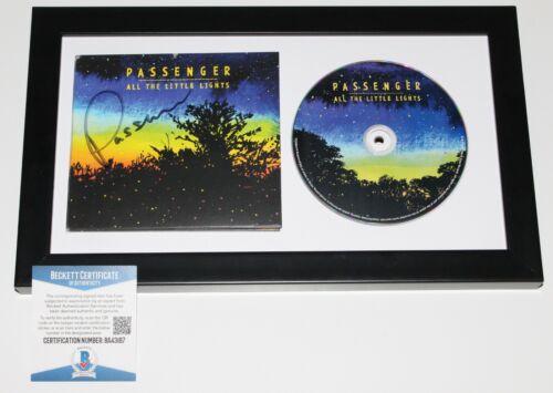 PASSENGER SIGNED FRAMED 'ALL THE LITTLE LIGHTS' CD ALBUM BECKETT COA LET HER GO