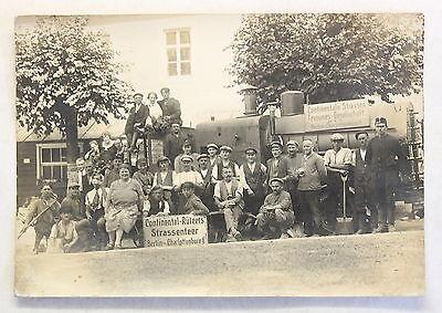 Orig. Fotografie Continental-Rütgers Strassenteer Berlin um 1910 Belegschaft xz