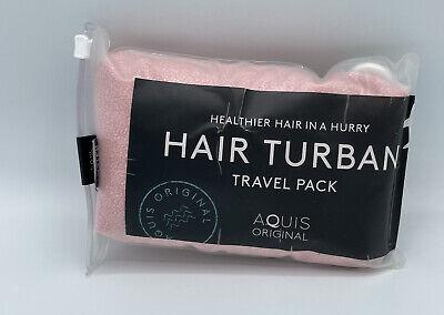 Aquis Travel Pink Turban Haartrockner Neu im Paket