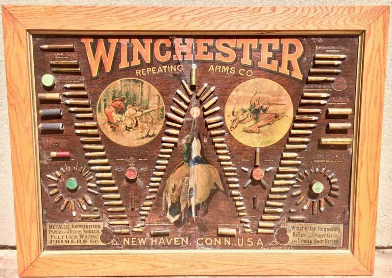 WINCHESTER MODEL 1890 SINGLE-W CARTRIDGE BOARD (BULLET BOARD) ORIGINAL VINTAGE W