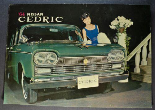 1964 Nissan Cedric Sales Brochure Folder Datsun Excellent Original 64