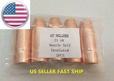 Us Seller 5 Pcs Mig Welding Nozzle 21-50 12 Lincoln Magnum 100l Tweco Mini1